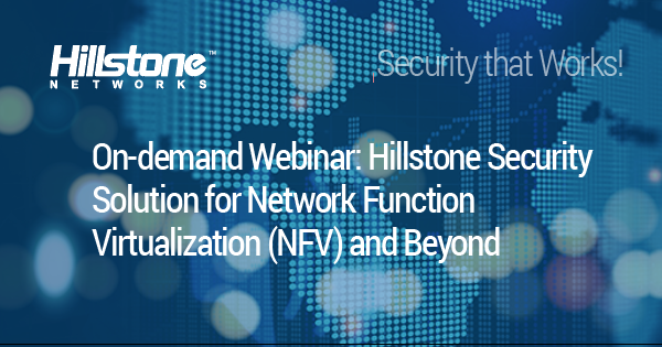 Watch Hillstone Security Solution for NFV and Beyond