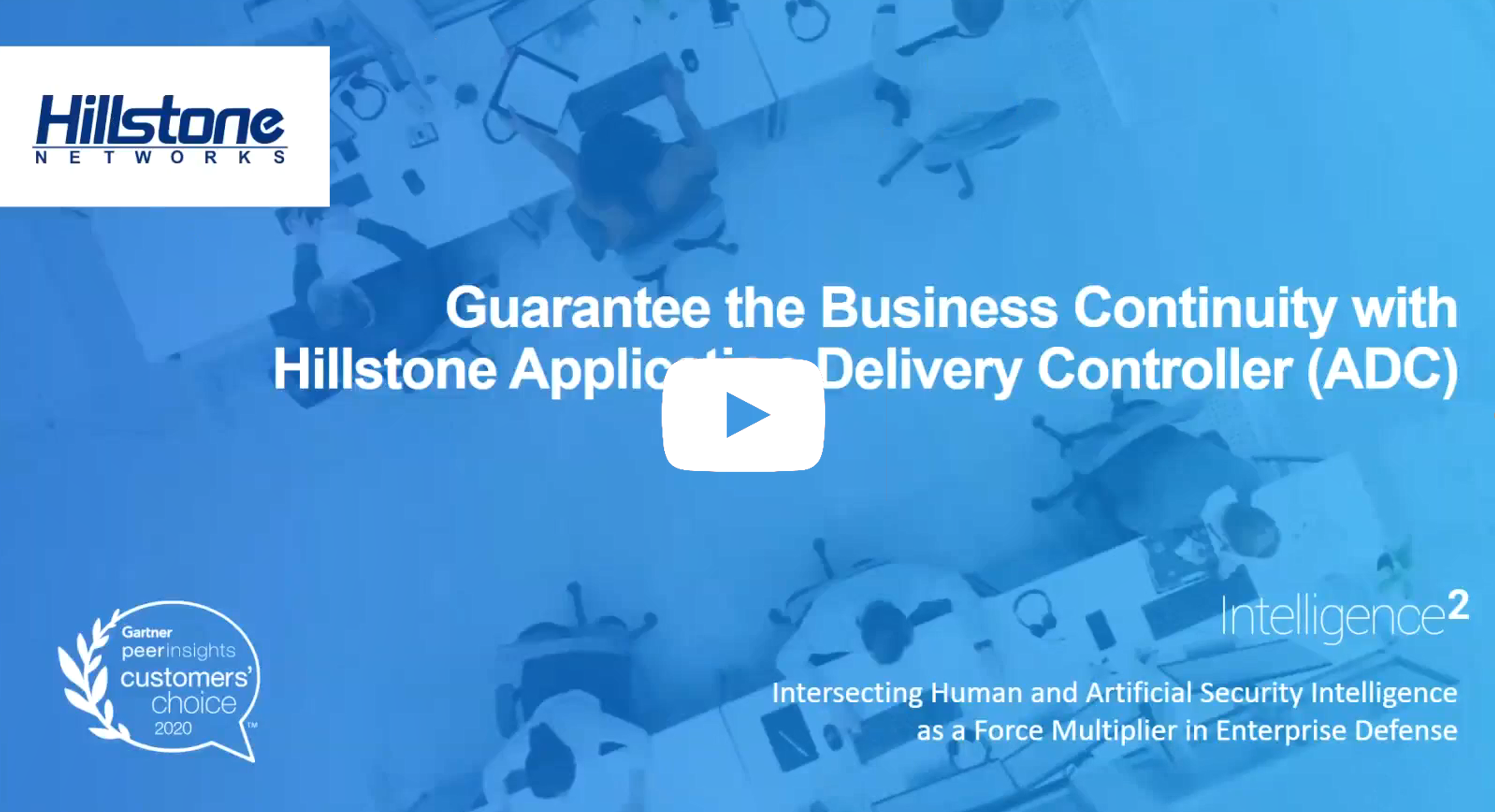 Watch On-demand Webinar: Application Delivery Controller (ADC)